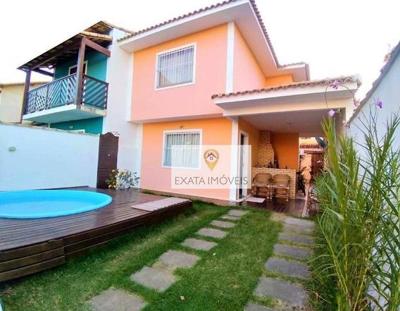Casa Duplex 04 Quartos, Piscina E Churrasqueira, Jardim Mariléa, Rio Das Ostras! - Ca1212