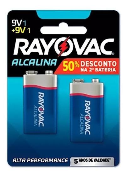 Bateria Rayovac 9v Alcalina Val 2023 / 06 Cartelas = 12 Unid