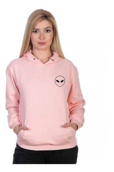 Moletom Feminino Et Tumblr Alien Canguru Promoção Limitada