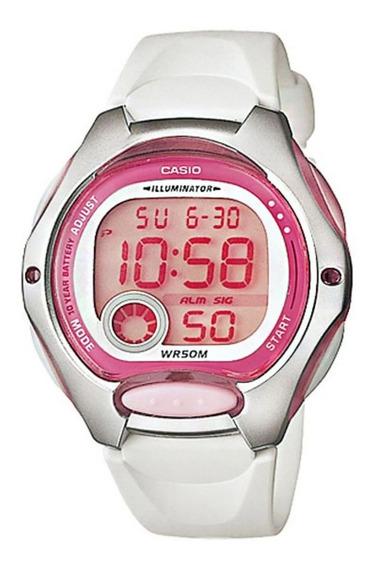 Reloj Mujer Casio Lw-200-7a Rosado Digital / Lhua Store