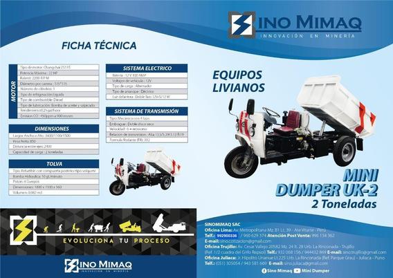 Mini Dumper Uk-2 - Sino Mimaq