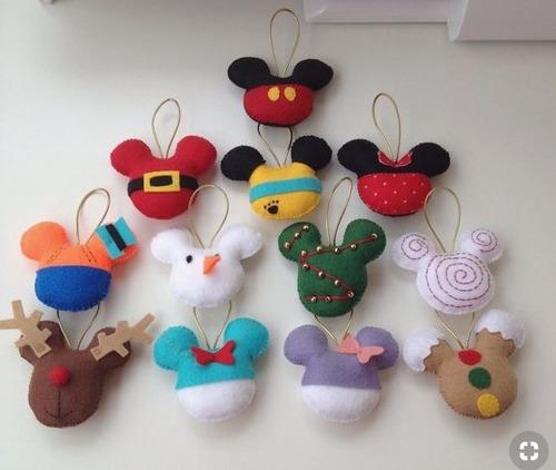 Imagen 1 de 1 de Adornos Para Árbol Navideño Disney Navideña Mickey Minnie