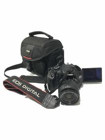 Canon 600d Eos +objetiva 18-55mm+tripé+bolsa+sd Card 16gb