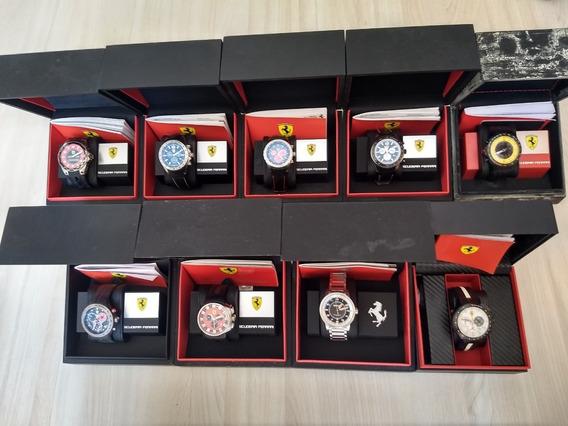 09 Relógios Ferrari Originais Para Colecionadores.semi Novos