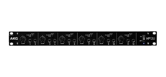 Amplificador Monitor Akg P/ Fone De Ouvido 12 Canais Hp12u