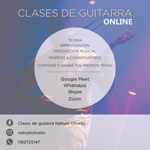Imagen 1 de 2 de Clases De Guitarra Online Blues Rock Metal Pop Jazz