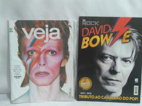 Revista Veja E Revista Poster David Bowie B3