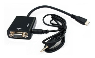 Cable Conversor Mini Hdmi A Vga Con Audio Video 1080p Fact A