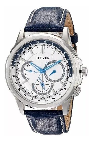 Citizen Eco-drive Bu2020-02a - Azul - Couro
