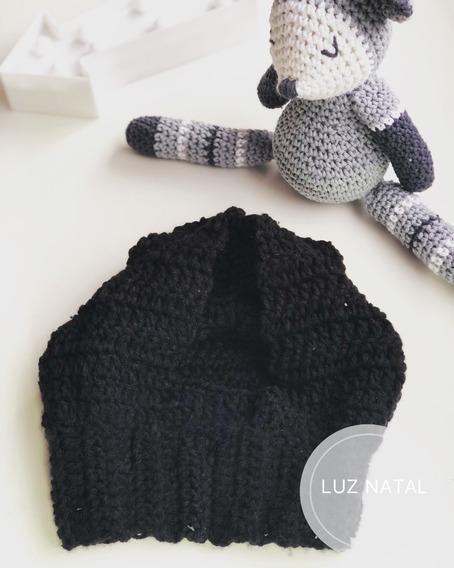 Gorro Capucha Con Cuello Para Bebé Tejido Crochet Lana Soft