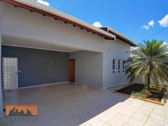 Casa Com 3 Dormitórios Para Alugar, 130 M² Por R$ 2.500,00/mês - Residencial Terras Do Barão - Campinas/sp - Ca1854