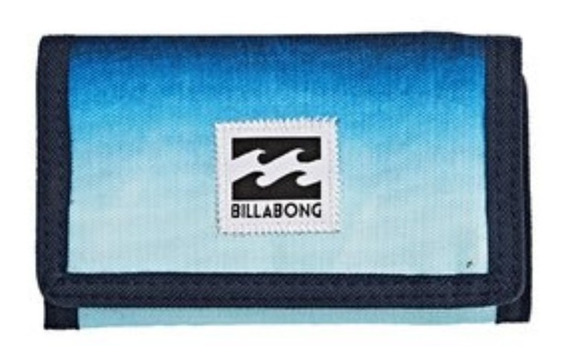Billetera Billabong Atom Wallet-stealth Negro Abrojo Unisex