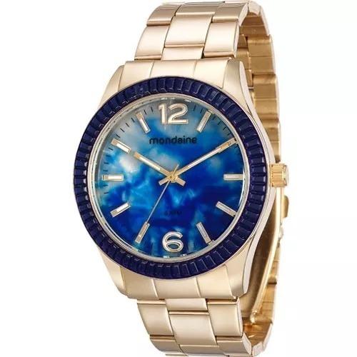Relógio Mondaine Feminino Analógico Dourado Promoção
