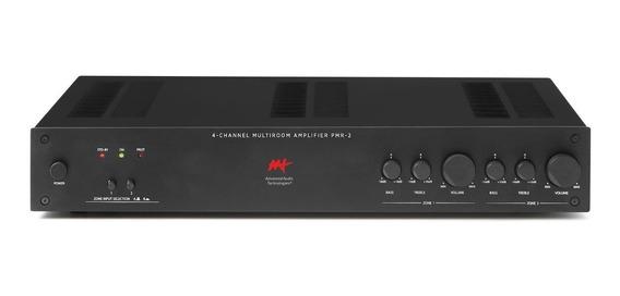 Amplificador Aat Pmr-2 2 Zonas 4 Canais 200w Rms Bi-volt
