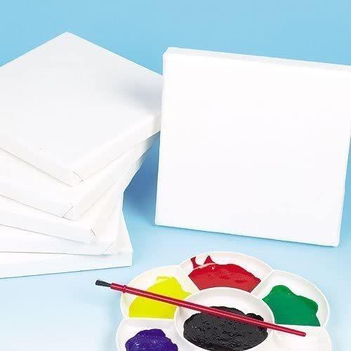 Imagen 1 de 4 de Baker Ross Ek1694 Mini Tela De Lona Blanca Imprimada Y Estir