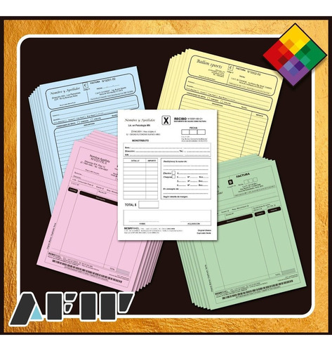 1 Talonario A4 Factura A, B, C, Monotributo, Once / Cong.
