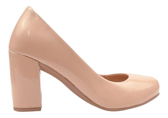 Sapato Feminino Scarpin Salto Alto Anabela Full 26485