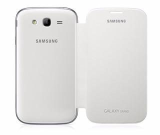 Capa Flip Samsung Galaxy I9082 Branca Nova Original + Pelic.