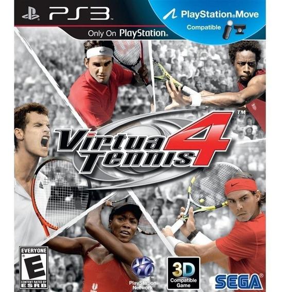 Jogo Ps3 Virtua Tennis 4 Mídia Física