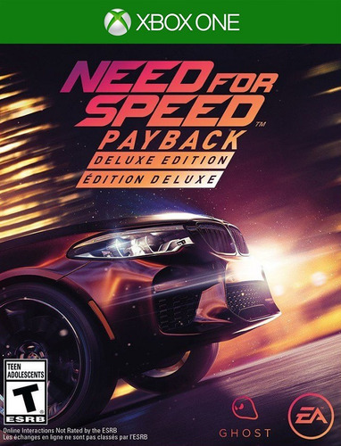 Need For Speed Payback Deluxe - Xbox One 25 Dígitos