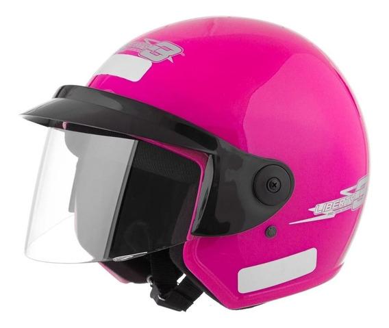 Capacete para moto aberto Pro Tork Liberty Three rosa M