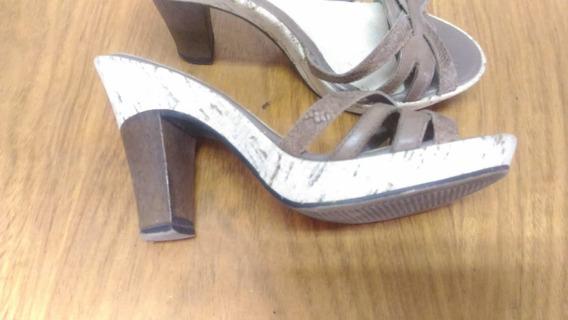 432 sandália Bottero, Marrom Com Bege