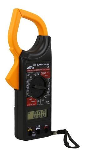Imagen 1 de 7 de Pinza Amperometrica Digital Gralf Dt-266 Multimetro Tester
