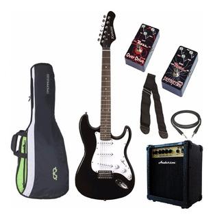 Combo Guitarra Eléctrica + Amplificador 10w + Pedal + Acc