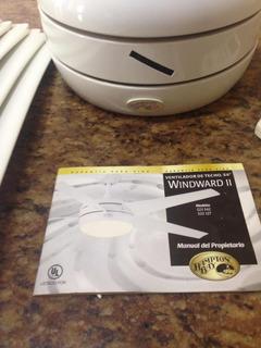 Ventilador De Teto Importado Hampton Bay Branco Com 5 Pás
