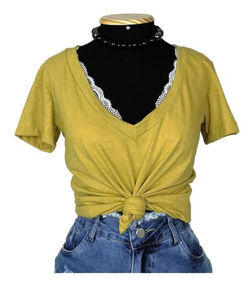 Camiseta Blusa Podrinha Básica Tshirt Feminina Moda Barata
