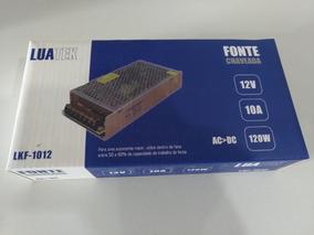 Fonte 12v Chaveada 10a Para Sistema De Camera E Eletronicos