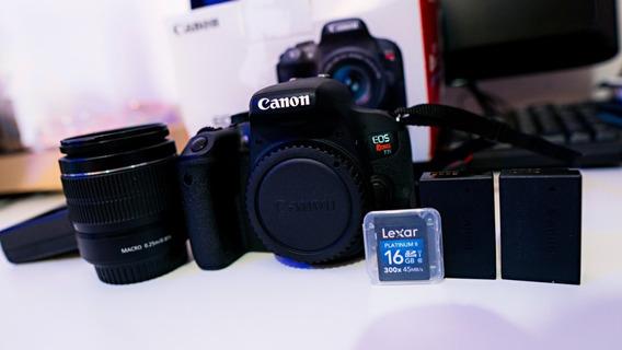 Câmera Canon T7i + Lente 18-55 Kit