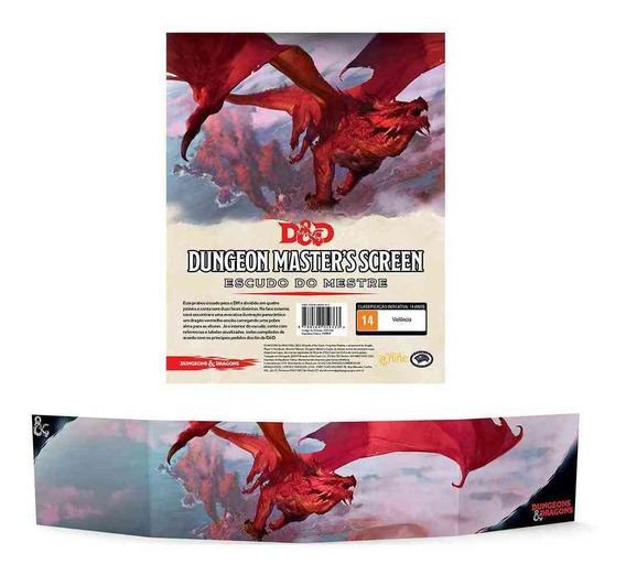 Dungeon Dragons Masters Screen Escudo Mestre Portugues Rpg