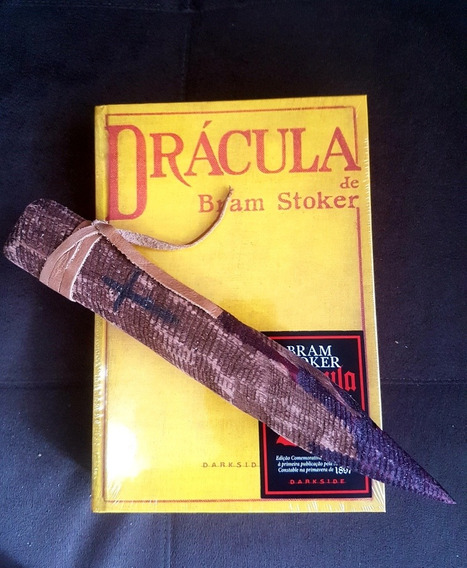 Livro Drácula Darkside Books + Estaca