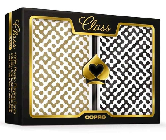 2 Baralhos Class Modern Copag Estojo Duplo Naipe G Poker