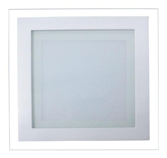 Luminária Plafon Led 12w De Vidro Embutir Redonda / Quadrada