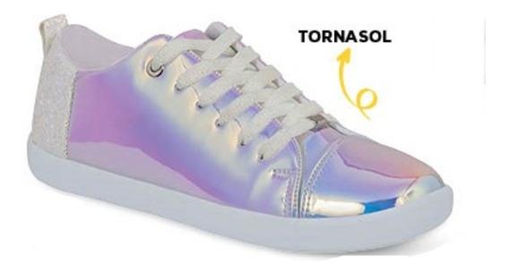 Calzado Tenis Sneakers Dama Mujer Moda Tipo Piel Plata