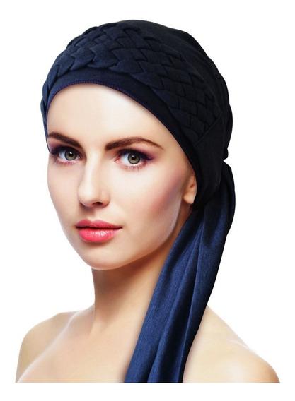 Turbante Azul Marinho + Tiara De Trança Azul: Quimio