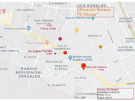 Terreno En Venta En Ecatepec, Estado De México Con 13,000 M2