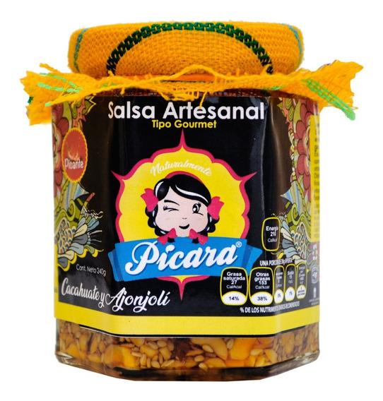 Salsa Gourmet Artesanal Cacahuate Y Ajonjolí Picante