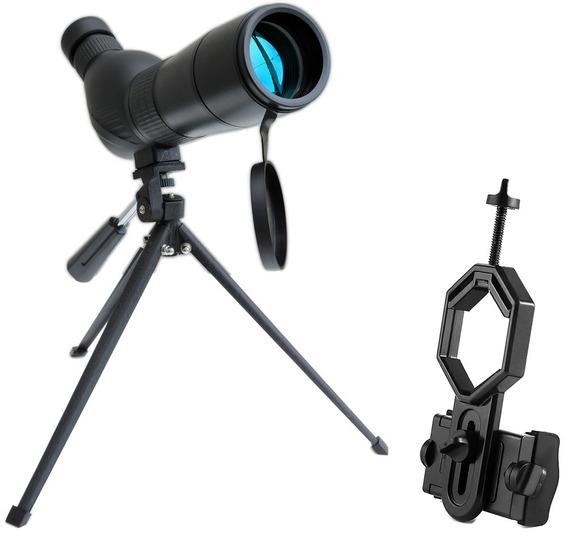 Luneta 60mm 30-90x60a Wr Zoom + Adaptador Celular Adtx