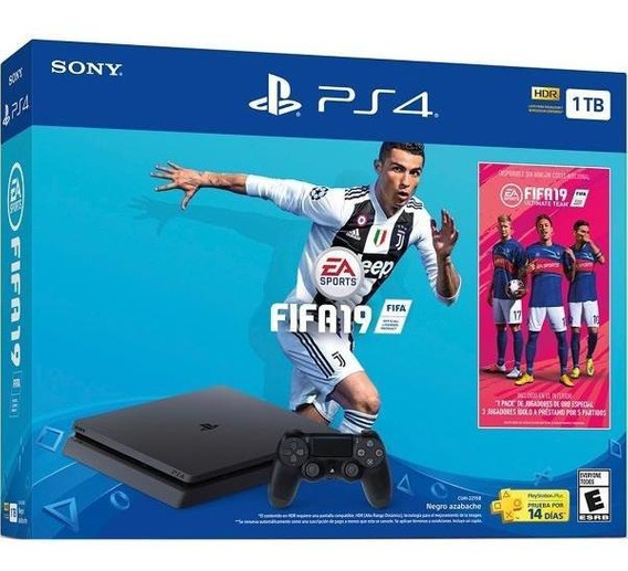 Play Station 4 Slim 1tb Ps4 + 1 Juego Escojer Fifa Crash New
