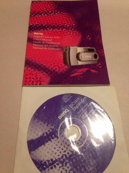 Manual Y Cd De Cámara Digital Benq Dc 3410