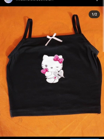 Seifuku Tradicional+ Crop Top Hello Kitty