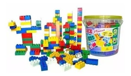 Kit 2 Baldes Blocos De Montar 156 Peças Brinquedo Educativo