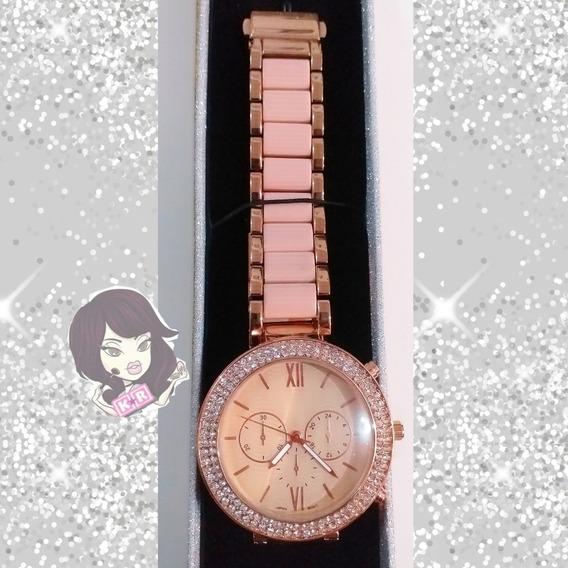 Hermoso Reloj Para Dama Elegante Con Cristales
