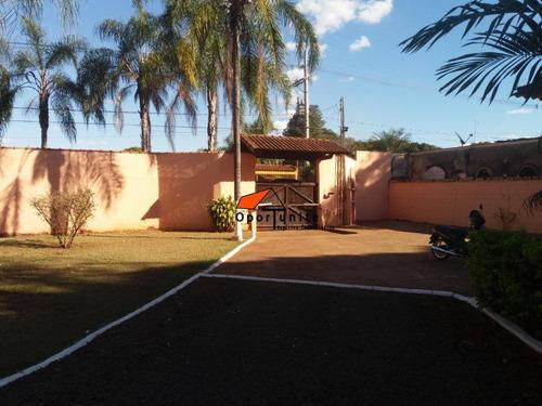 Chácara Com 4 Dormitórios À Venda, 5000 M² Por R$ 1.500.000,00 - (l-11) - Ribeirão Preto/sp - Ch0010