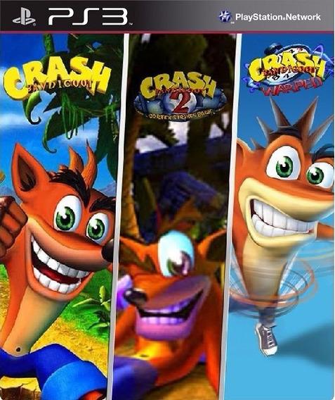 Crash Bandicoot 1 2 3 Trilogia Ps3 Pronta Entrega