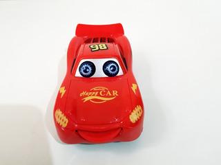 Kit Com 5 Carrinhos Mcqueen Carros Miniatura Bate E Volta