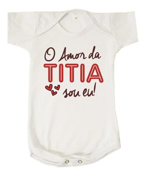 Body Bebê Amor Da Titia Sou Eu Neném Vermelho Tia